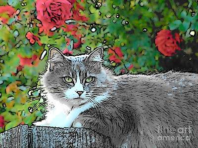 Lu With Roses Art Print