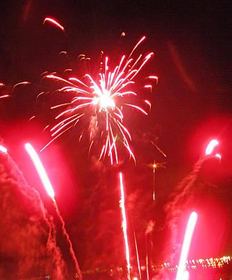 Photograph - Luau Fireworks I by Elizabeth Hoskinson