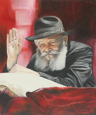 Painting - Lubavitcher Rebbe by Miriam Leah