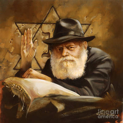 Lubavitcher Rebbe Art Print by Ron Di Scenza