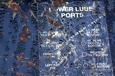 Print featuring the photograph Lube Port by Stephen Mitchell