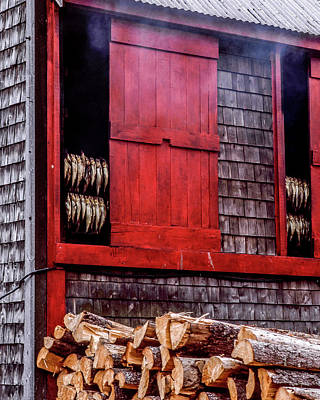 Lubec Smokehouse Art Print
