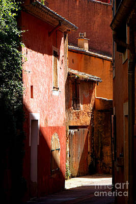 Old Houses Photograph - Luberon Village Street by Olivier Le Queinec