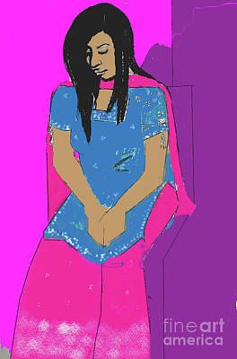 Digital Art - Lubna 2 by Joanne Claxton