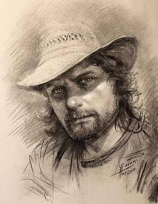 Charcoal Drawing - Luca by Ylli Haruni