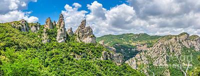 Basilicata Photograph - Lucan Dolomites With Beautiful Mountain Village Of Castelmezzano by JR Photography
