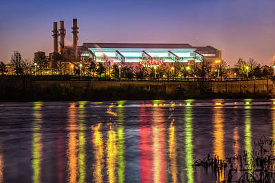 Indiana Photograph - Lucas Oil Stadium At Night - Home Of The Indianapolis Colts by Gregory Ballos