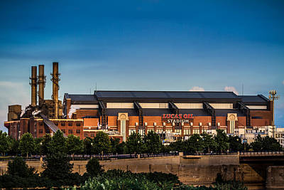 Photograph - Lucas Oil Stadium by Ron Pate