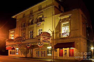 Farmhouse Rights Managed Images - Lucas Theater Historic Savannah Theater Art Royalty-Free Image by Reid Callaway