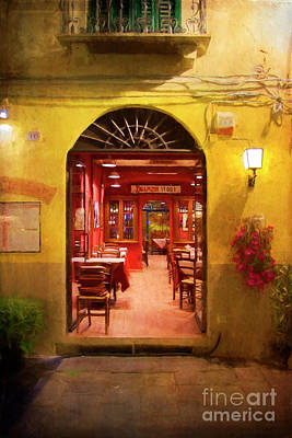 Photograph - Lucca Dining 2 by Stuart Row