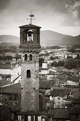 Photograph - Lucca Torre Delle Ore  by Songquan Deng