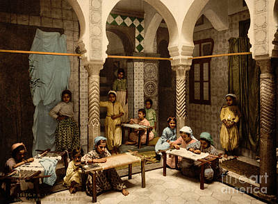 Painting - Luce Ben Aben School Of Arab Embroidery by Celestial Images