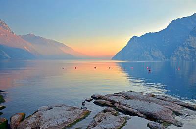 Luce Della Sera Sul Lago Di Garda  Art Print