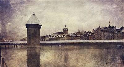 Photograph - Lucerna, Kapellbrucke by Vittorio Chiampan