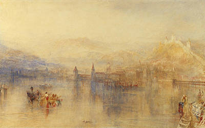 Swiss Landscape Painting - Lucerne From The Lake by Joseph Mallord William Turner