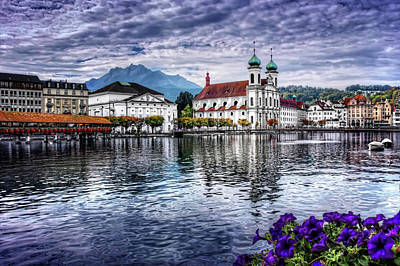 Covered Bridge Photograph - Lucerne In Switzerland  by Carol Japp