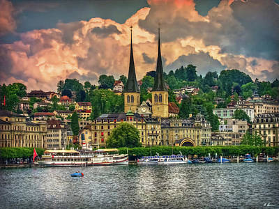 Photograph - Lucerne National Dock by Hanny Heim