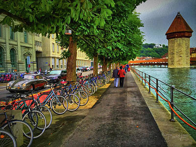 Photograph - Lucerne Strolling by David A Lane