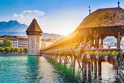 Lucerne Sunset Art Print