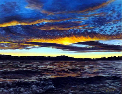Painting - Lucerne Sunset by Linda Becker