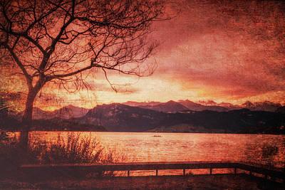 Photograph - Lucerne Switzerland Sunrise Texture 7k_dsc2162_09132017 by Greg Kluempers