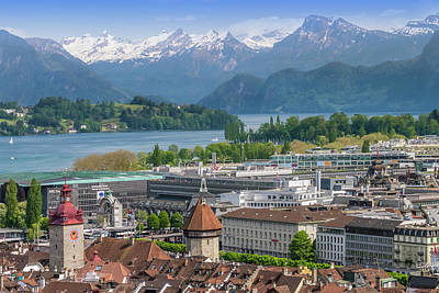 Lucerne Photograph - Lucerne View To Lake Lucerne by Melanie Viola
