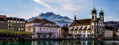 Photograph - Lucerne's Architecture by TK Goforth
