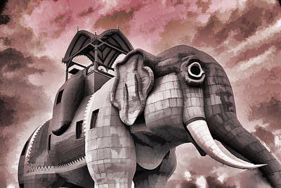 Tourist Attraction Digital Art - Lucy The Elephant by Allen Beatty