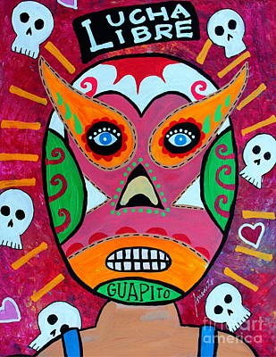 Painting - Lucha Libre by Pristine Cartera Turkus
