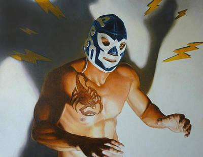 Luchador De Escorpio Original by Lionel Talaro