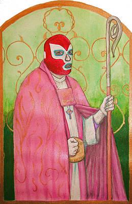 Painting - Luchador De La Fey by Josean Rivera