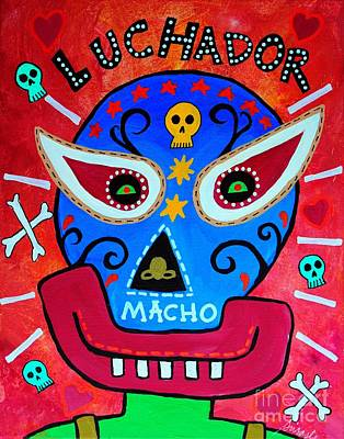 Painting - Luchador by Pristine Cartera Turkus