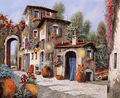 Luci All'entrata Art Print by Guido Borelli