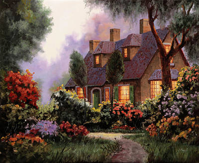 Painting Rights Managed Images - Luci Dalle Finestre Royalty-Free Image by Guido Borelli