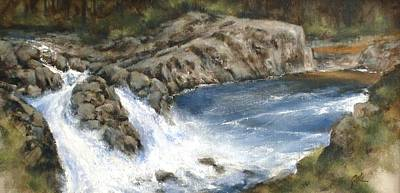Mountain Scenery Wall Art - Painting - Lucia Falls Summer by Jim Gola
