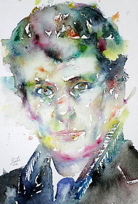Painting - Lucian Freud - Watercolor Portrait.3 by Fabrizio Cassetta
