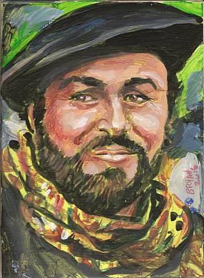 Painting - Luciano Pavarotti by Bryan Bustard