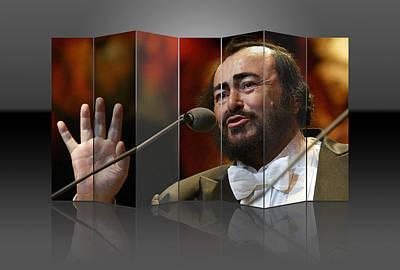 Mixed Media - Luciano Pavarotti by Marvin Blaine