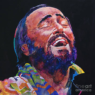 Music Legends Painting - Luciano Pavrotti by David Lloyd Glover