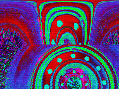 Digital Art - Lucid Dream Portal - Cherry Grape Lime Fizz by Absinthe Art By Michelle LeAnn Scott