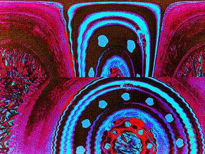 Digital Art - Lucid Dream Portal - Raspberry Chocolate Skies by Absinthe Art By Michelle LeAnn Scott