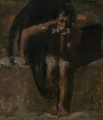 Painting - Lucifer by Franz Stuck