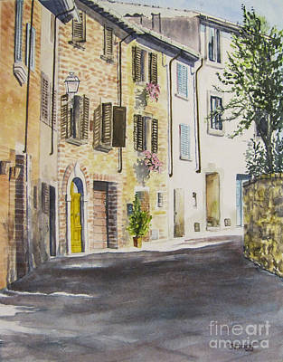 Painting - Lucignano, Italy by Carol Flagg