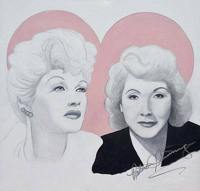 Painting - Lucille And Vivian by Patricia Brewer-Cummings