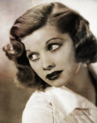 Musician Royalty-Free and Rights-Managed Images - Lucille Ball by Mary Bassett by Mary Bassett