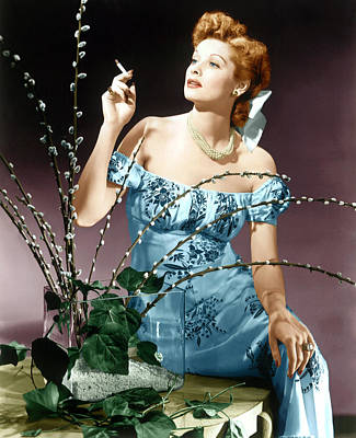 Jb Photograph - Lucille Ball, Ca. Midlate 1940s by Everett