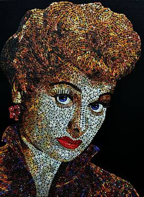 Mixed Media - Lucille Ball  by Doug Powell