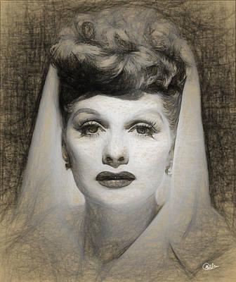 Lucille Ball Draw Art Print