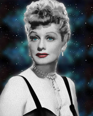 Manipulation Photograph - Lucille Ball by EricaMaxine  Price