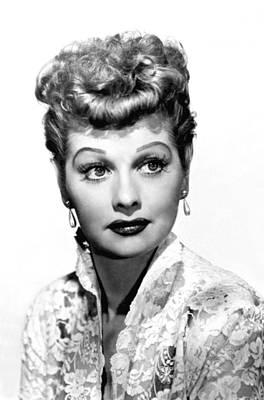 Earrings Photograph - Lucille Ball, Portrait by Everett